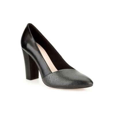Clarks Black combi leather ´ Babble Brook ´ high heeled court - . -