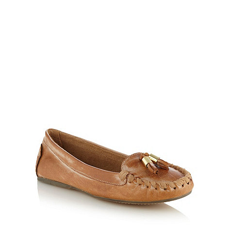 Faith - Tan leather moccasins