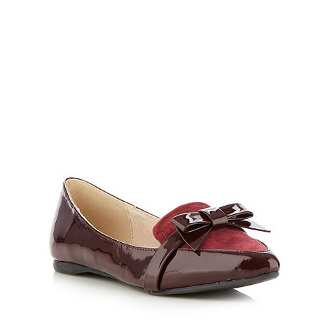 Faith - Wine bow strap pumps