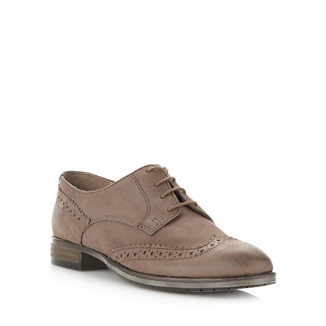 Faith - Taupe leather lace up brogues