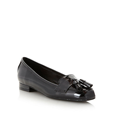 Faith - Black patent flat shoes