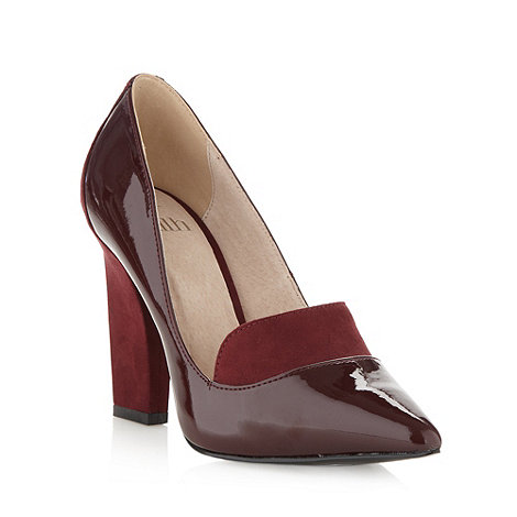 Faith - Wine patent panel court shoes