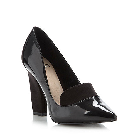 Faith - Black narrow high heeled court shoes