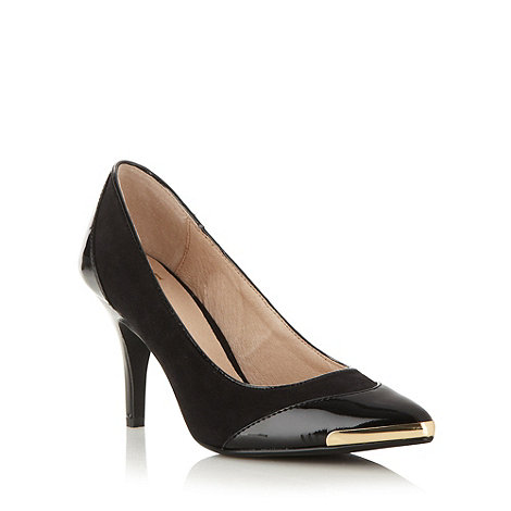 Faith - Black pointed toe high court shoes