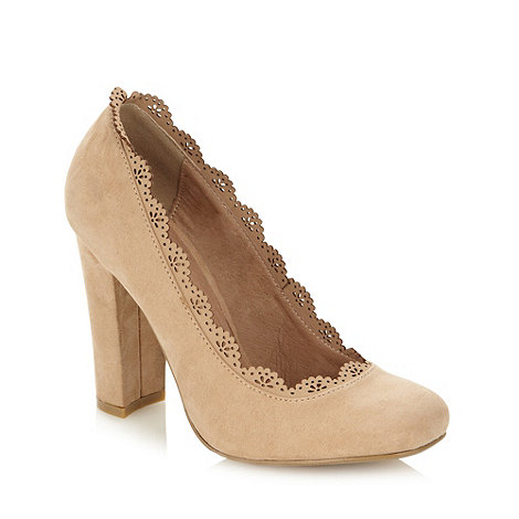 Faith - Natural cutwork trim high court shoes