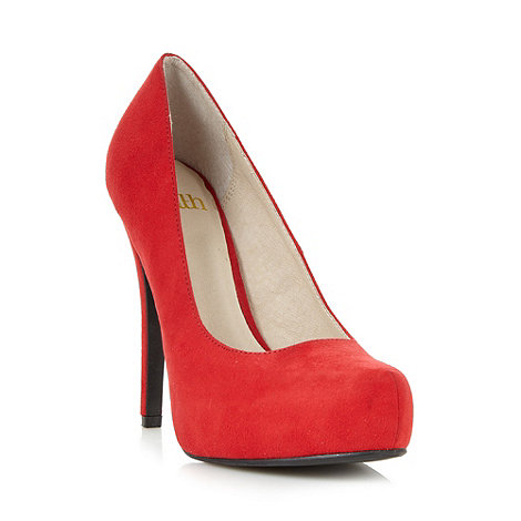 Faith - Red suedette high court shoes