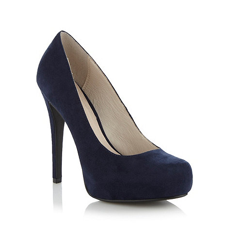 Faith - Navy suedette high court shoes
