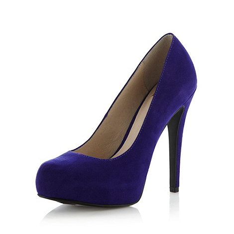Faith - Bright purple suedette high court shoes