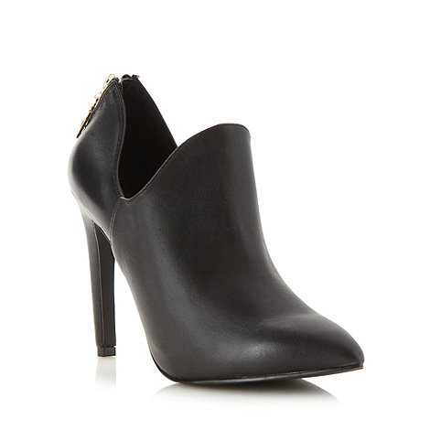Faith - Black leather high heel boot