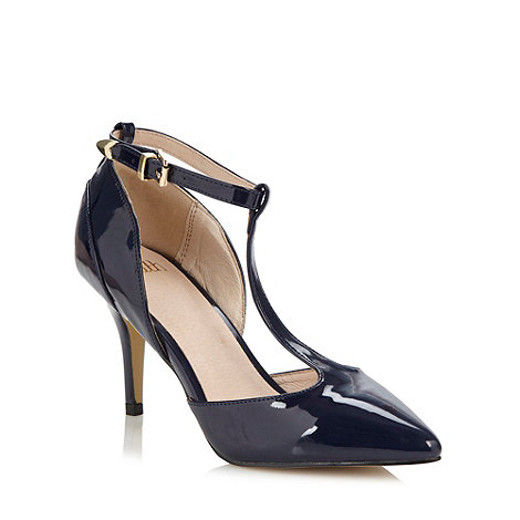 Faith - Navy patent high court shoes