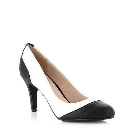 Faith - White colour block panelled high court shoes