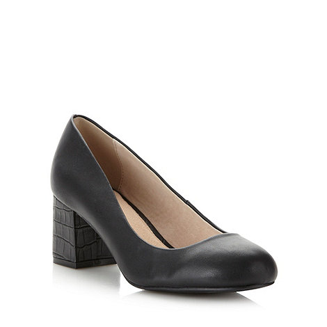 Faith - Black heeled court shoes