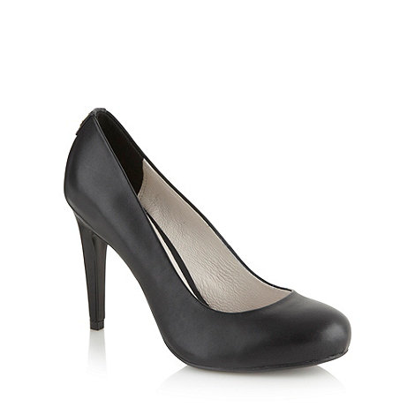 Faith - Black leather high court shoes