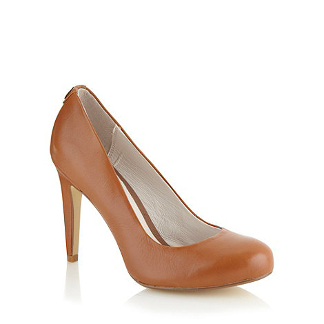 Faith - Tan leather high court shoes
