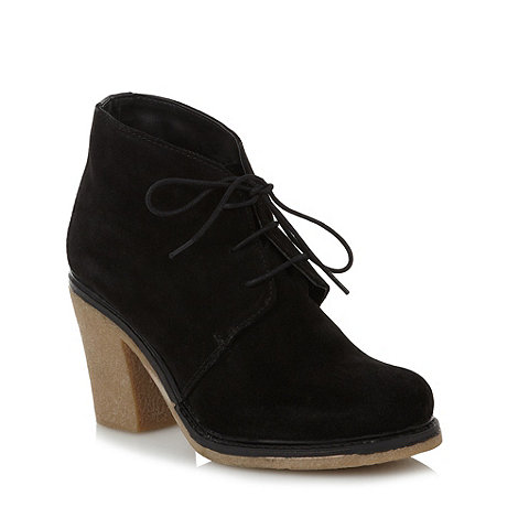 Faith - Black suede high ankle boots