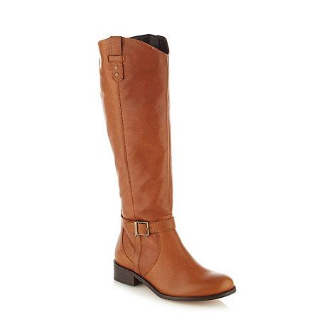 Faith - Tan leather knee high boots