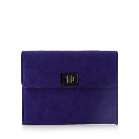 Faith - Bright purple clutch bag