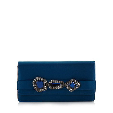 Faith - Dark turquoise pave belt clutch bag