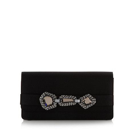 Faith - Black pave belt clutch bag