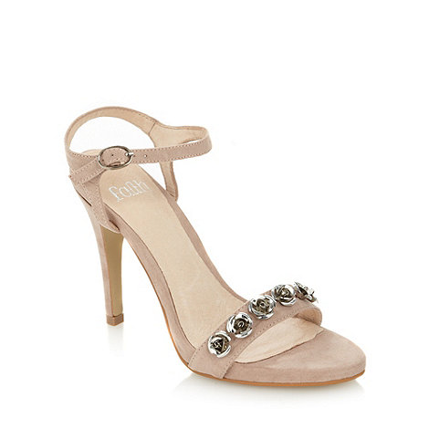Faith - Natural rose studded high sandals
