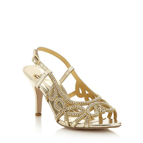 Faith - Gold diamante high sandals
