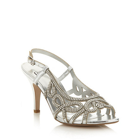 Faith - Silver diamante high sandals