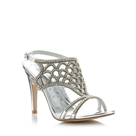 Faith - Silver caged diamante high sandals
