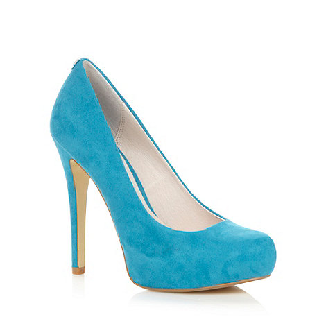 Faith - Turquoise high heeled court shoes