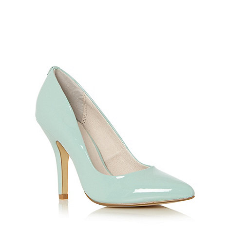 Faith - Pale green patent pointed toe high court shoes