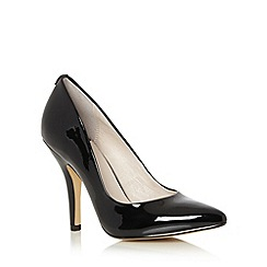 Faith - Black patent pointed toe high court shoes