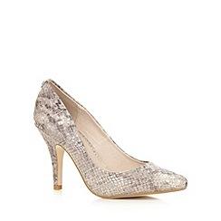 Faith - Natural snakeskin high court shoes