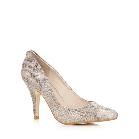 Faith - Natural snakeskin high court shoes