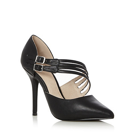 Faith - Black high heeled court shoes