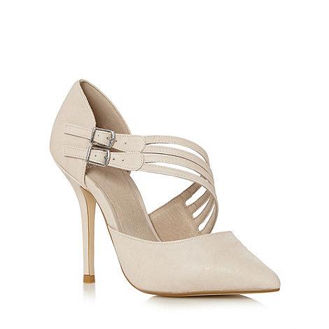 Faith - Nude high heeled court shoes