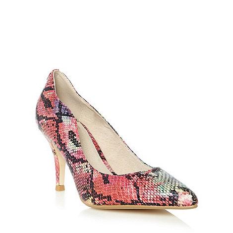 Faith - Multi snakeskin court shoes