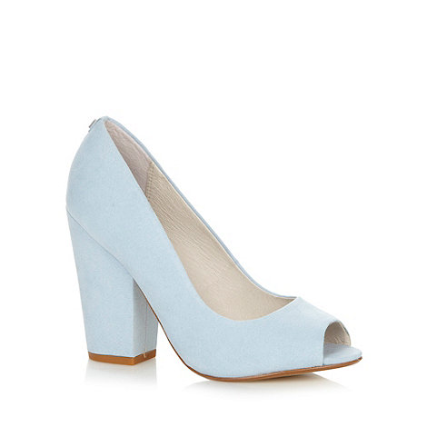Faith - Pale blue peep toe high heel courts shoes
