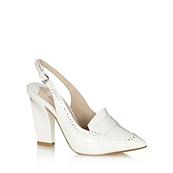 Faith - White punched sling back high shoes