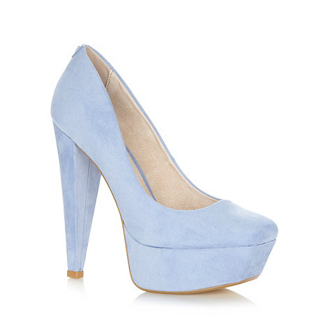 Faith - Lilac high platform court shoes