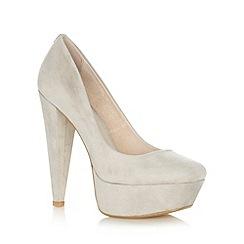 Faith - Pale grey high platform court shoes