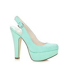 Faith - Green suede effect slingback court shoes