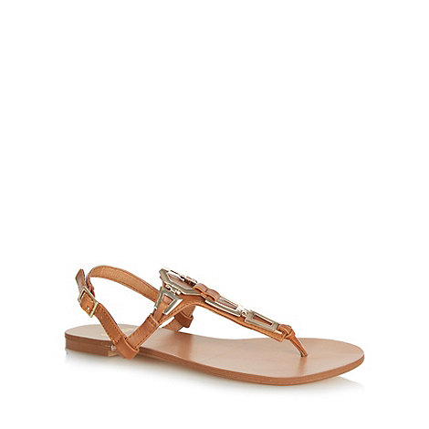Faith - Tan chain strap sandals