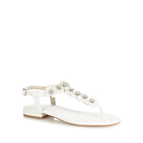 Faith - White 3D flower sandals