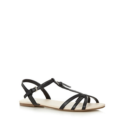 Faith - Black multi strap buckle sandals