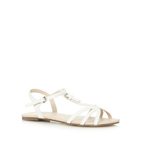 Faith - White multi strap buckle sandals