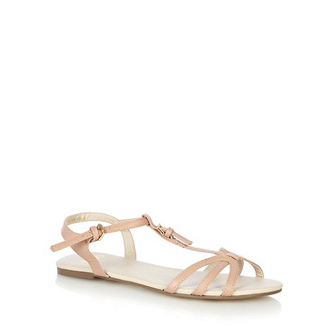 Faith - Natural multi strap buckle sandals