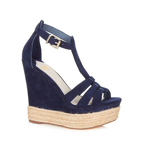 Faith - Navy blue wedge sandals