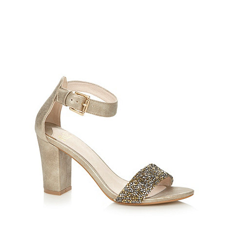 Faith - Gold embellished high sandals