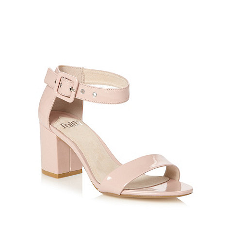 faith light pink mid block heel sandals at debenhams