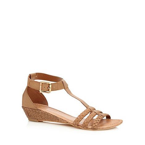 Faith - Tan plaited strap sandals