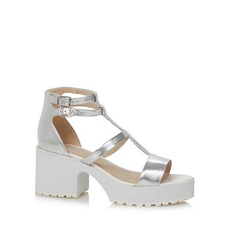 Faith - Silver metallic mid sandals